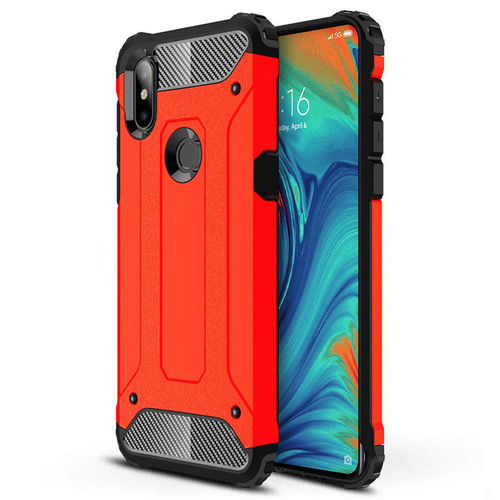 Military Defender Tough Shockproof Case for Xiaomi Mi Mix 3 5G - Red